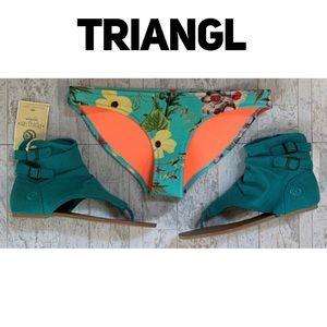 Triangl neoprene floral bikini bottoms - XS